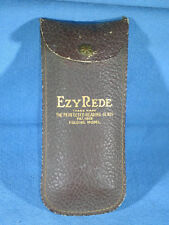 Antique 1918 Ezy Rede Folding Magnifying Reading Glass - Leather Case Only