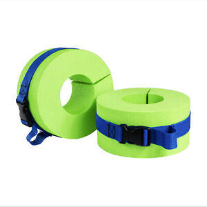 Swim Aquatic Cuffs Ankles Arms Legs Belts EVA Green Swimming Exercise Float Ring