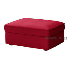 IKEA KIVIK  - Slipcover for Ottoman with Storage Dansbo Medium Red (cover only)