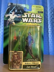 Lucasfilm Star Wars ep 2 zam wasell takara hasbro 2002 bandai walt disney Tomy