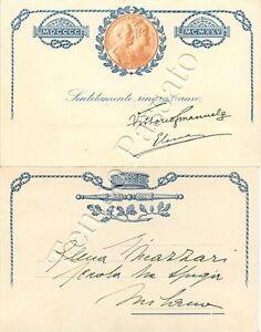 Cartolina 25° anno dall'incoronazione di re Vittorio Emanuele III di Savoia