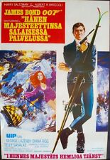 ON HER MAJESTY'S SECRET SERVICE JAMES BOND Finnish movie poster LAZENBY RIGG NM