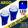 Super Bright Led Xenon power Side Light 501 W5w 158 168 T10 Ice Blue Bulbs 12v