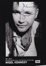 Nigel KENNEDY (GBR) orig.Autogramm handsigniert 13,00 x 18,00 cm ++TOP++