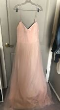 Nordstrom Hayley Paige Occasions Women's Blush Pink Tulle Gown Size 12 NEW