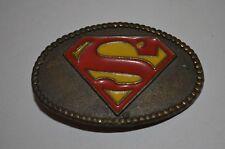 Superman Super Hero DC Comics Lee Co 1944 Childrens Kids Belt Buckle VTG 70s USA