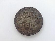 Monnaie Pièce argent  Léopold 2 1873