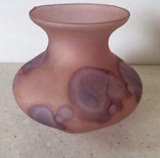 Vintage Jewish Ilanit Olamtov  Israel Hand Painted Glass Vase Judaism