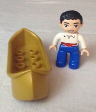 Lego Duplo The Little Mermaid - Prince Eric w/ Canoe Figure Replacement