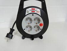 Kabeltrommel Kabelbox Vario Line 4-fach schwarz/lichtgrau 5m H05VV-F 3G1,5