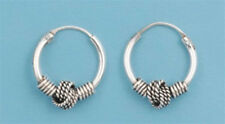 Sterling Silver 925 Bali Hoop Earring 12 mm USA Seller