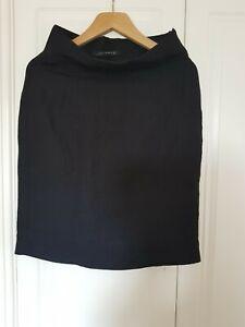 ZARA LADIES BLACK FEMALE ELEGANT LINEN SKIRT UK 12 UK 10