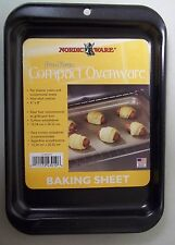6x8 NORDICWARE PRO FORM BLACK NON STICK COMPACT BAKING SHEET toaster oven cookie