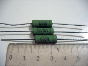 680 ohm 680R 680ohm 5W 5% Philips Power Wire Resistor 5 Watt, 20pcs