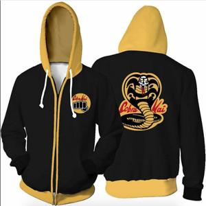 Karate Kid Cobra Kai Hoodie Jacket Coat Sweatshirt Hooded Top Men Women Kids