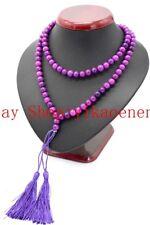 8mm Natural Purple Sugilite Gemstones Beads 108 Prayer Beads Mala Necklace