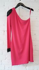 Forever Unique - Fuchsia Pink One Shoulder Dress - Preowned Size Small 8 - 10