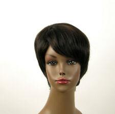 perruque afro femme 100% cheveux naturel méchée noir/cuivré JEAN 02/1b30