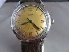 Vintage Cyma Watersport Wind-up Mechanical Watch CA 1960 17JEWEL SERVICED WORKS