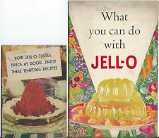 2 COLLECTIBLE JELLO VTG RECIPE COOKBOOKS 1934 & 1936 GREAT COLOR ILLUSTRATIONS