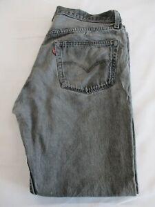LEVIS 501, GRADE B, Grey Blue Levi Jeans, Button Fly, W38, L30 -SEE DESCRIPTION