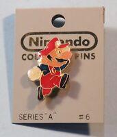 1989 Nintendo Collector Pin Back Button Mario Profile Sealed NIB ACE #6 NES era