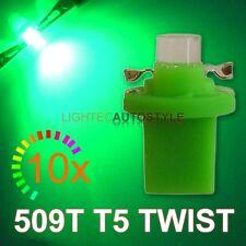 10x GREEN 509T T5 B8.5D TWIST LOCK 509 LED SPEEDO DASH BULBS UK