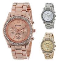 Fashion Ladies Women Crystal Diamond Dial Stainless Steel Quartz Wrist Watch NEW
