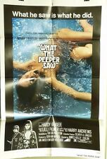 "VTG 1972 ""WHAT THE PEPPER SAW"" US ORIG 1SH 27X41 FILM POSTER JAMES KELLY, EKLAND"