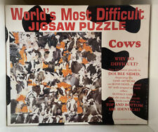 Cows Jigsaw Puzzle 529 Piece Double Sided Worlds Difficult Buffalo Games 1995