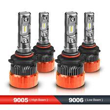 160W Combo LED Headlight Kit High & Low Beam 9005+9006 6000K White 2 Pairs