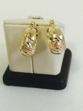 10k Multi Tone Gold Hoop Earrings 3.1g