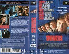 SNEAKERS - Redford & Aykroyd - VHS - NEW - PAL - Original Oz sell-thru release