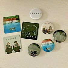 Official Sparks 'Hippopotamus' badge & magnet set