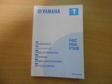 Brugerhandbog agarens verkstadshandbok OUTBOARD MOTORE YAMAHA f40c f60a ft60b