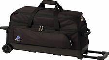Ebonite Transport 3 Ball Roller Bowling Bag with Wheels Black 5 Year Warranty