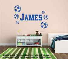 Personalised Name & Football Wall Art Boys Room Childrens Kids Sticker Vinyl