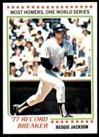 1978 Topps Record Breaker Reggie Jackson New York Yankees #7