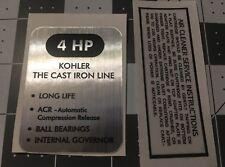 Kohler Engine 4-hp K91 decal Rolls Air, Original Clipper black and silver Set 2