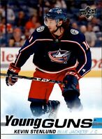 KEVIN STENLUND 2019-20 UD Series 1 YOUNG GUNS RC #211 Columbus Blue Jackets