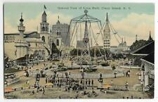 AIRPLANE RIDE,TOWER & MORE-GENERAL VIEW OF LUNA PARK~ CONEY ISLAND,NY
