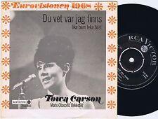 TOWA CARSON Du Vet Var Jag Finns 45PS 1968 eurovision Preselection