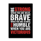 Red Motivational Workout Poster Print Gym Fitness Art Picture Office Dorm Decor