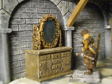 Dresser with Mirror Thomarillion Unpainted Resin Pewter Dwarven Forge D&D