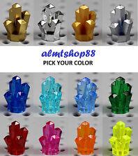 LEGO - Rocks Crystals - PICK YOUR COLORS Jewels Gems Diamonds Treasure Chest Lot