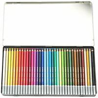 Stabilo CarbOthello Chalk Pastel Colouring Pencils, Metal tin of 36