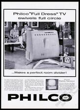 1959 Philco Predicta Full Dress TV television set photo vintage print ad
