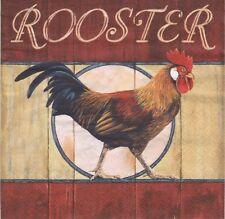 2 Serviettes en papier Animal Ferme Coq Decoupage Paper Napkins Red Rooster