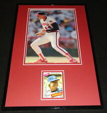 Jerry Reuss Signed Framed 11x17 Photo Display 1987 Angels