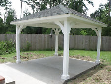 14'x14' wood PAVILION built & installed by THE GAZEBO FACTORY of TEXAS!